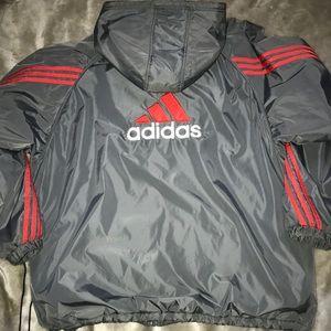 Vintage Adidas Reversible Windbreaker Fleece XXL